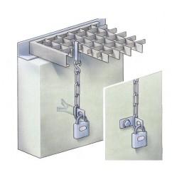 Anti-diefstalketting (compleet met beugel en hoekstuk)